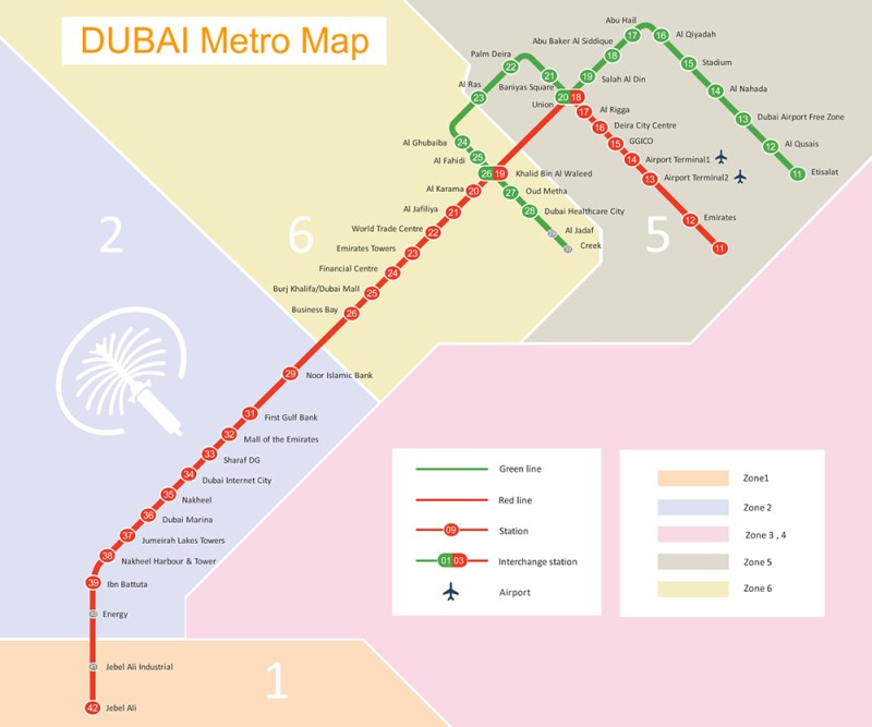 dubai metro map 2015 pdf