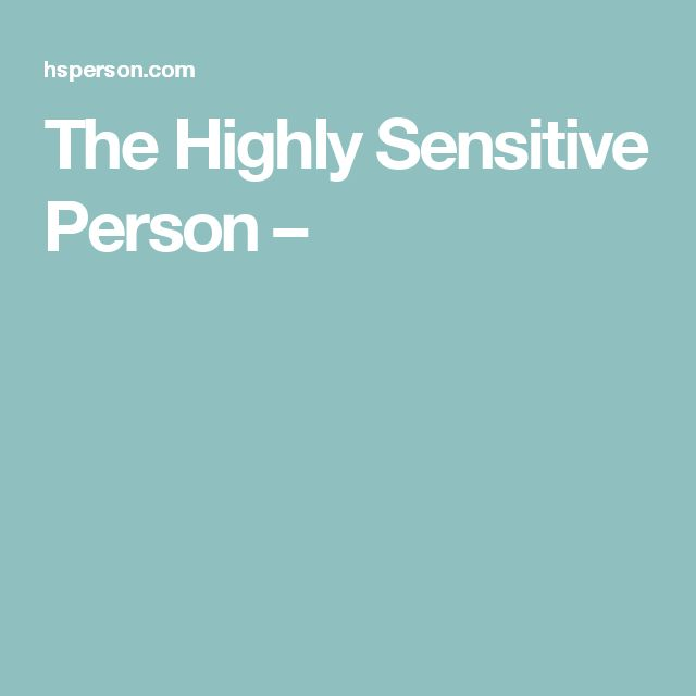 the highly sensitive person pdf