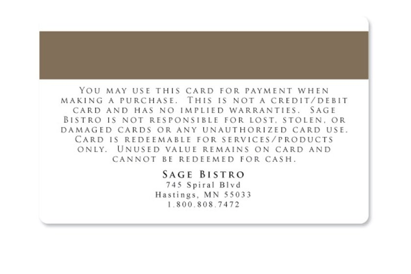 gift card terms and conditions