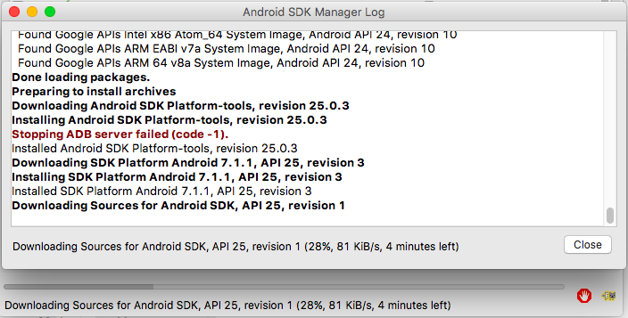 android studio sdk-tools manual install