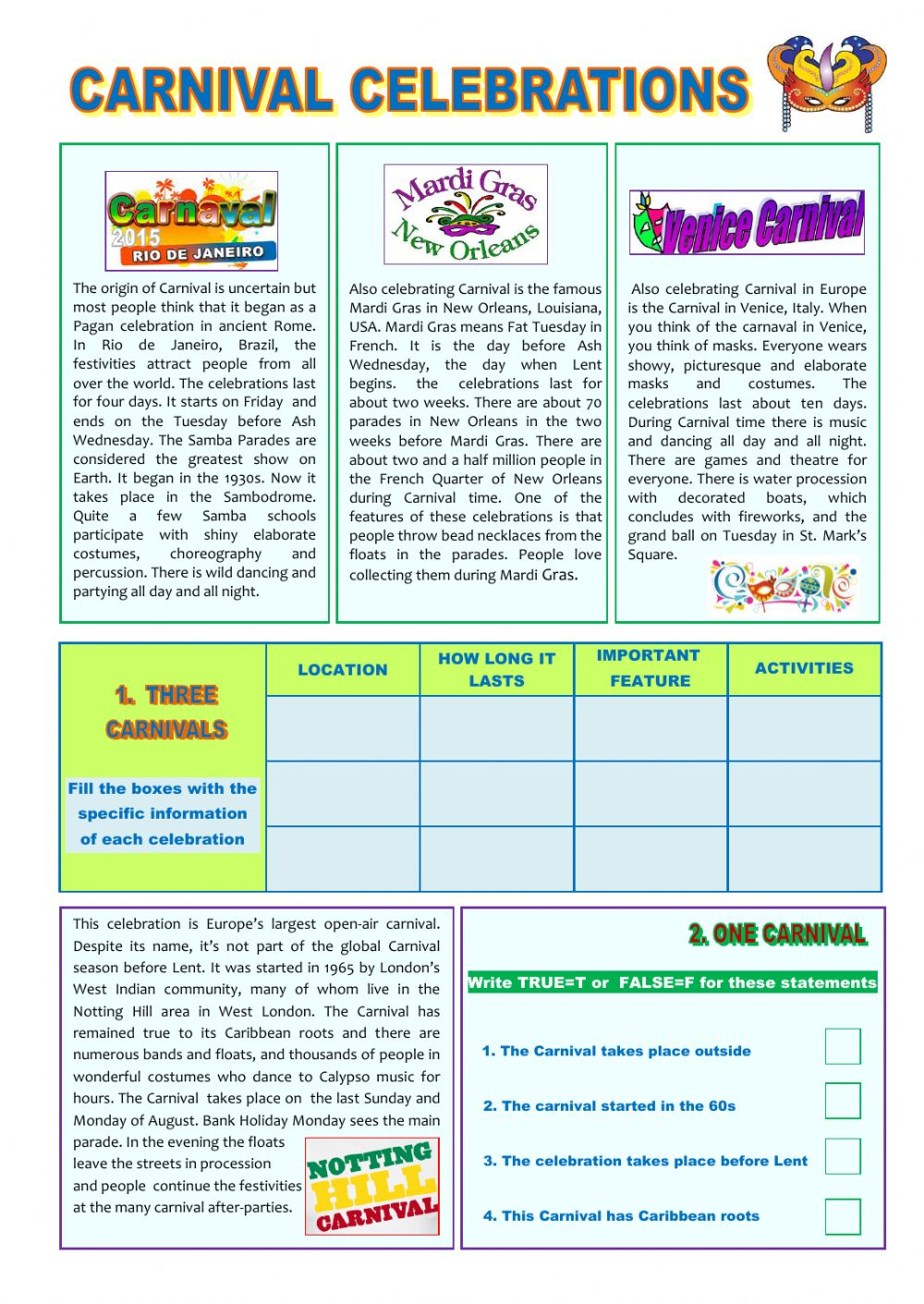 reading comprehension about music pdf