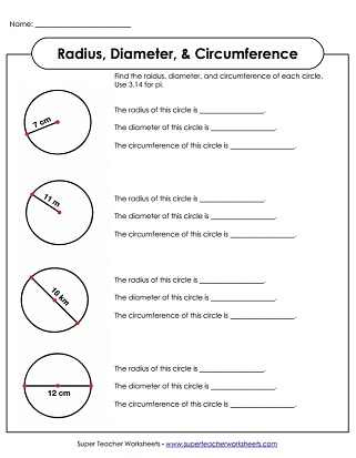 radius and diameter worksheet pdf