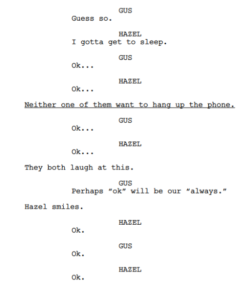 the fault in our stars script pdf